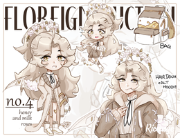 [CLOSED, TY~!] Floreign no.4 | Honey Milk Roses by Riccasze