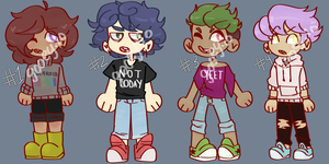 [CLOSED] Human Adoptables by gooeyio