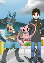 Human Form P9/Pokemon Trainer Form by ErictheLucario