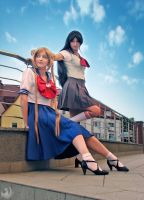 Usa and Rei by lunatycy-project