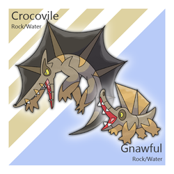 Gnawful and Crocovile by Tsunfished