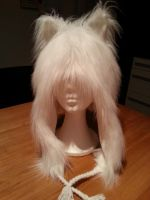 Fluffy White Wolf Hat 2 by Thoaee