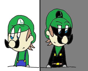 M.i.t.m. Characters Bio-Luigi and Mr. L by MeleeInTheMiddle