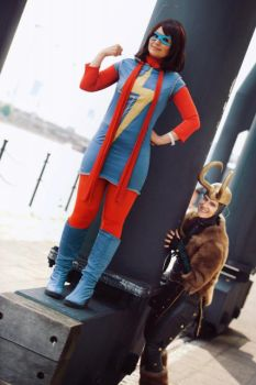Ms. Marvel | Thor : Kamala Khan and Loki by Amapolchen
