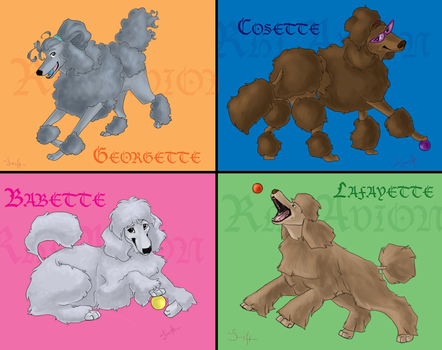 poodle quartet by swift-whippet