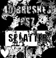 40 PS7 brushes - SPLATTER by sir-kazeloth