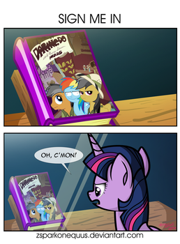 Comic 85: Sign Me In by ZSparkonequus