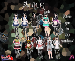 300 watchers gift- Alice madness returns pack by FNAFfanart67