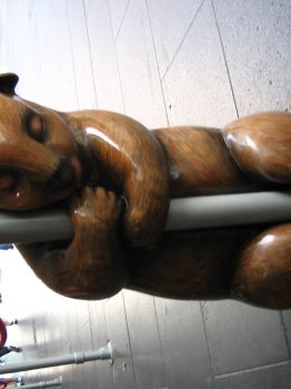a wombat pole dancer by psychyginger