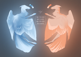 MORE CHEAP WINGED ADOPTS One left! by Volinfer