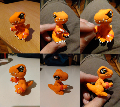 Agumon Ignyat: Light clay figure by Fly-Sky-High