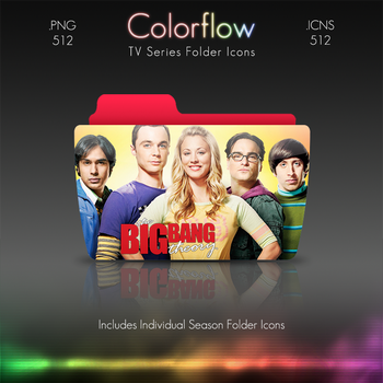 Colorflow TV Folder Icons: The Big Bang Theory by Crazyfool16