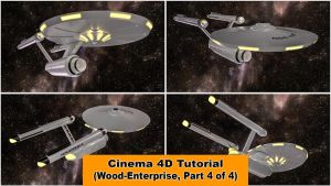 Wood (or not) Enterprise - Part 4 (C4D Tutorial) by NIKOMEDIA