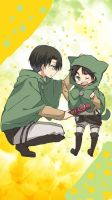 SNK- Levi and Little Eren by ItsAnimeTime1099