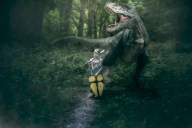 The boy knight and his dinosaur by RhysBriers