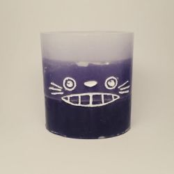 Totoro Candle (Back) by SacredFootballLB