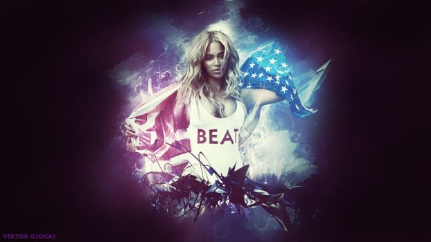 Beyonce Photoshop Wallpaper by ViktorGjokaj