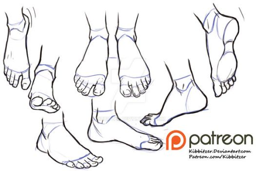 Feet reference sheet 2 by Kibbitzer