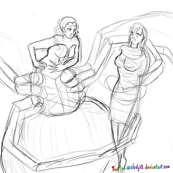 Spiders catch sketch by Twisted-melody13