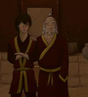 Iroh and Zuko- Forgiven by avatar-fan