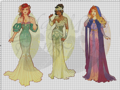 WIP-Nouveau Princess Patterns (Hannah-Alexander)3 by pinkythepink
