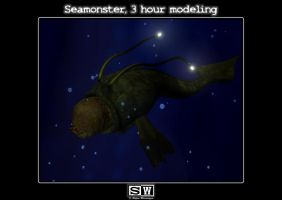 Seamonster top view by iFeelNoSorrow