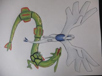 Lugia and Rayquaza: a request from Instagram by ImmaCatastrophe