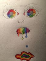 Rainbow face by LovelyBunny-17