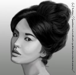 Classical Beauty Black n White by Patternintheivy