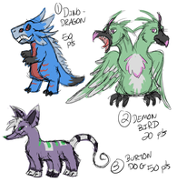 Monster Adopts 4: CLOSED by PolychromaticDragon