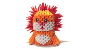 3D origami lion by Girnelis