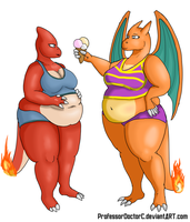COMMISSION: Charmeleon - Charizard WG part 1 of 8