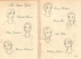 The Austen Girls by lily-azalea