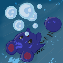 Gotta Draw 'em All: Azurill by TOAO-OneAndOnly