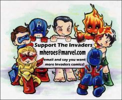 Support the Invaders by GalacticDustBunnies