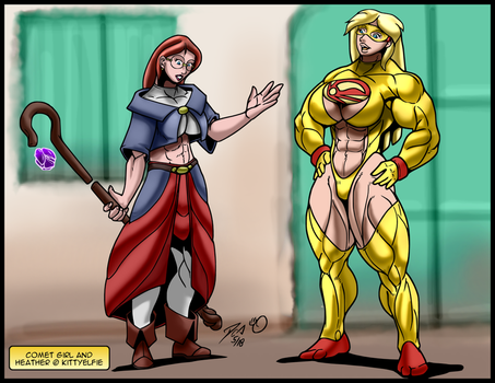 Comet Girl and Defender, Ready for Action by kittyelfie