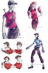 TF2: Femscout by DarkLitria