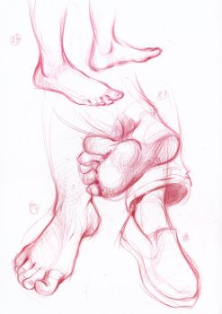 Feet study 3 by bouquiniste