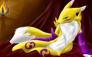 Renamon tired? by Chingilin