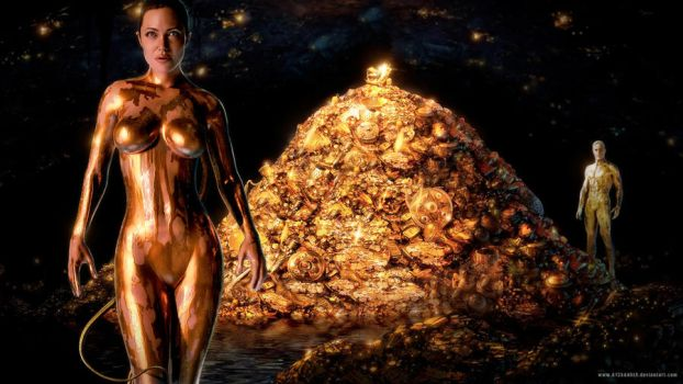 Grendel's Golden Grotto by A13XANDER