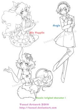 Various Linearts by Tanael