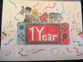 Happy 1st Birthday, Nintendo Switch! by AleMon1097
