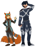 Ruvin and Sana Height Difference by Firewolf-Anime