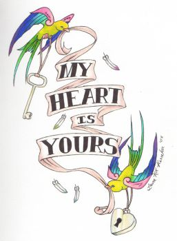 My Heart is Yours- Sparrows by LauraXavier