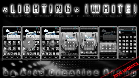 Next Launcher Theme Lighting White by ArtsCreativeGroup