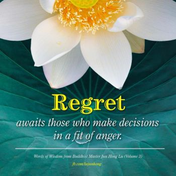 Regret awaits those who make decisions in a fit of by elsa7al