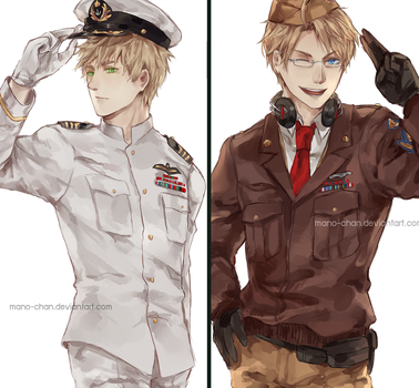 APH USA UK : Uniforms by Mano-chan