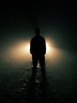 Man and light by r3akc3