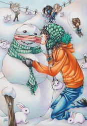 Only the Snowman knows by Dragonfly-666