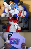 Furry Youtubers who got my fanart in mail by LBtheBug